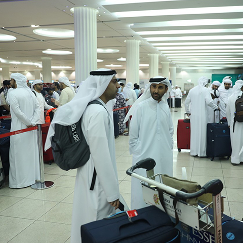 The official Hajj delegation of Dubai G..