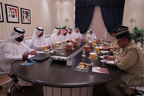Meeting with a delegation from Dubai Police General Headquarters