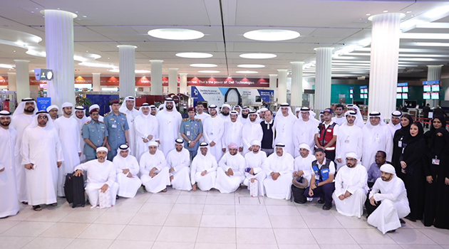 The official Hajj mission of the Government of Dubai arrives in Medina