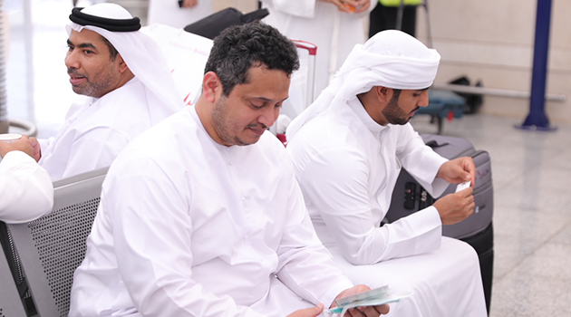 \The official Hajj mission of the Government of Dubai arrives in Medina