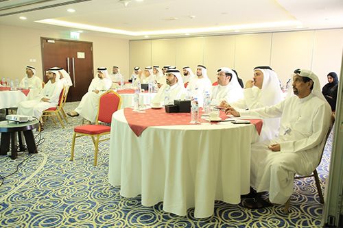 Meeting of senior management at Movenpick Hotel